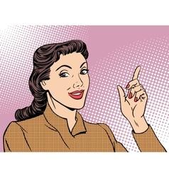 Business coach woman retro vector