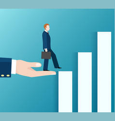 business way up concept vector image