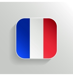 button - france flag icon vector image