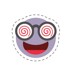 cartoon emoticon crazy april fools day vector image
