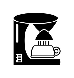 coffee machine appliance kitchen outline vector image