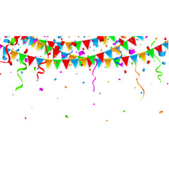 colorful confetti celebration carnival party vector image