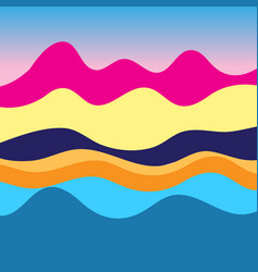 Colorful graphic landscape vector