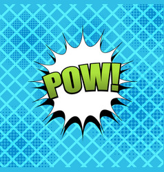 Comic pow wording template vector