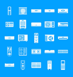 Conditioner air filter icons set simple style vector