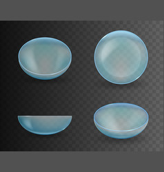 Creative of realistic glass vector
