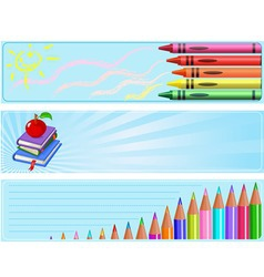 Different back to school banners vector