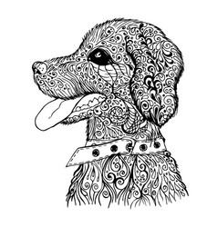doodle dog pattern vector image