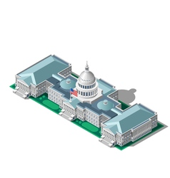 Election Infographic Parliament Isometric Building vector