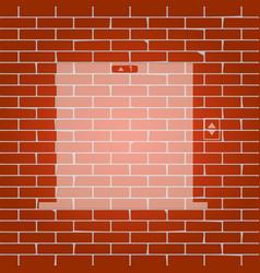 elevators door sign whitish icon on brick vector image