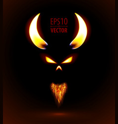 Fire silhouette of devil vector