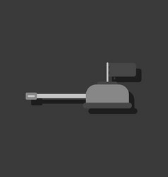 Flat icon design collection tank main gun in vector