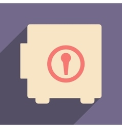 Flat with shadow icon and mobile applacation safe vector