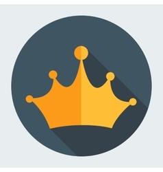 Gold Flat Design Crown vector image