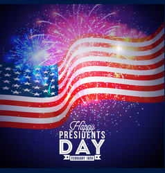Happy presidents day of the usa vector