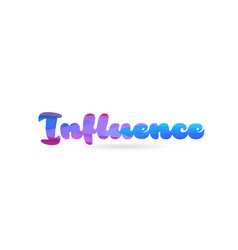 Influence pink blue color word text logo icon vector