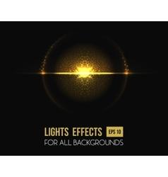 Light effect sun at horizon halo with lens vector