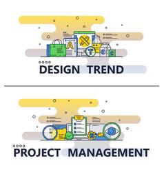 Line art design trend poster banner vector