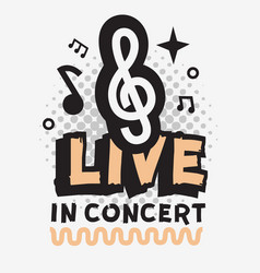 live music in the concert design with vector image