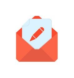 mail symbol envelope icon edit envelope vector image