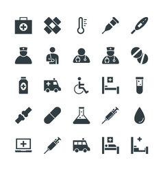 Medical and Health Cool Icons 1 vector image