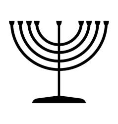 Menorah symbol judaism vector