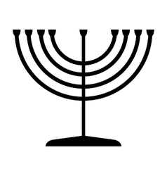 Menorah symbol of Judaism vector