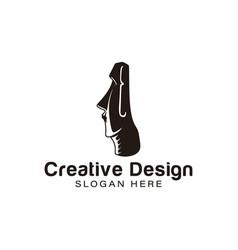 Moai stones face logo ideas inspiration logo vector