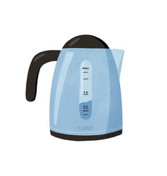 Modern electric tea kettle or teakettle with hot vector