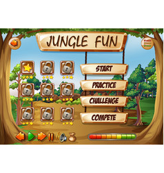 monkey jungle game template vector image