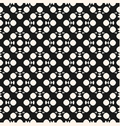 Monochrome seamless pattern with simple geometric vector