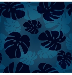 Monstera leaf pattern tropical vector