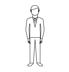 Newly married man character vector