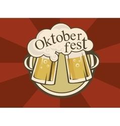 Oktoberfest banner design vector image