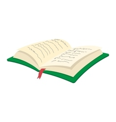 Open book cartoon icon vector image