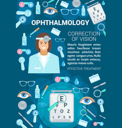 Ophthalmology vision correction clinic vector