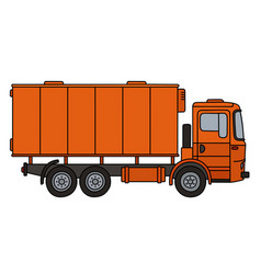 orange cargo truck vector image