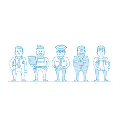 people are different professions vector image