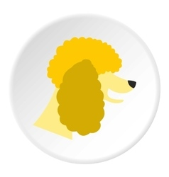 Poodle dog icon flat style vector