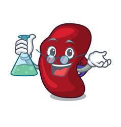 Professor spleen character cartoon style vector