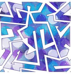 Purple geometric seamless pattern vector