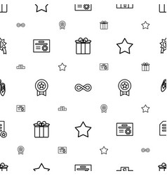 Ribbon icons pattern seamless white background vector
