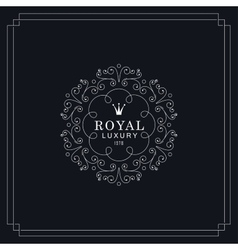 Royal luxury emblem vector