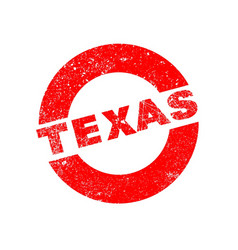 Rubber ink stamp texas vector