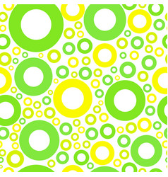 seamless pattern with green and yellow circles vector image