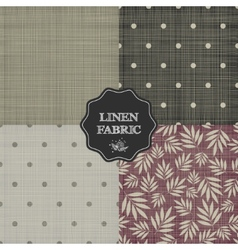 Set of for linen fabric vector image