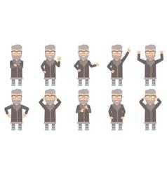 set of north man characters vector image