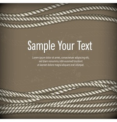 Set of ropes on brown text vector image