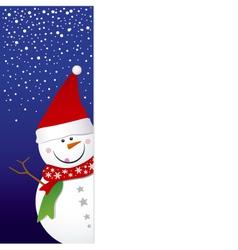 snowman design vector image