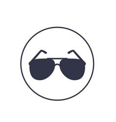 sunglasses icon on white vector image